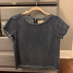 Cloth and Stone Jean cropped shirt, size XS